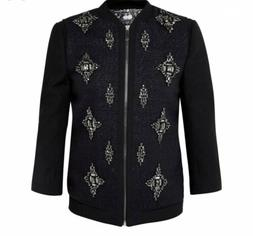 Ted Baker Size 3 Beaded Bomber Jacket RRP £269 BNWT Jewelle