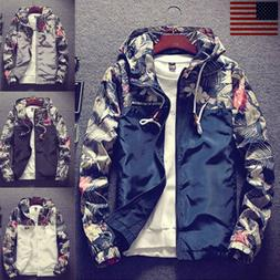 Spring Autumn Bomber Jacket Men Floral Printed Fashion Slim