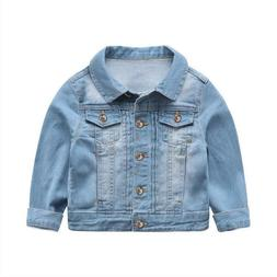 Spring Autumn Denim Jacket For Boy Long Sleeved Cotton Outwe