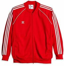 adidas Originals Men's Superstar Tracktop, Collegiate red L