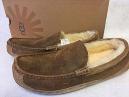 UGG ASCOT BOMBER Jacket Chestnut SUEDE SHEEPSKIN SLIPPERS MO