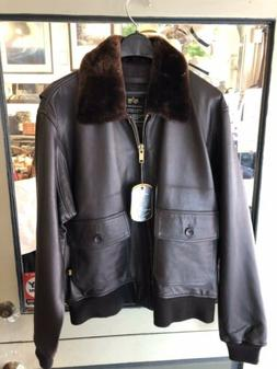 US NAVY Alpha Industries Bomber Leather Jacket lit for $695