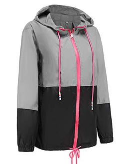 Windbreaker Packable Bomber Rain Jacket Ladies Waterproof Ja