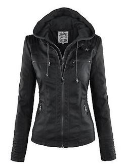 wjc663 womens removable hoodie motorcyle jacket s