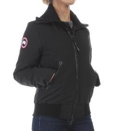 Canada Goose Women's Huron Bomber Black Down Jacket LARGE Au