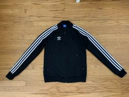 Adidas Womens Black Athletic Lightweight Bomber Jacket Outer