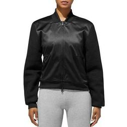 Adidas Womens Lightweight Sherpa Athletic Bomber Jacket Oute