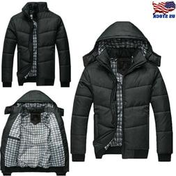 Men's Winter Padded Bubble Hooded Coat Puffer Quilted Jacket