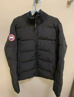 CANADA GOOSE Woolford Down Bomber Jacket Coat 3807M, Black,