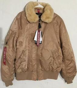 Alpha Industries x Urban Outfitters B-15 Slim-Fit Tan Bomber