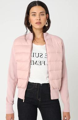 Ted Baker Xinta bomber-style Quilted Jacket Top in Lilac Siz